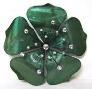 Metal Flower- Fleur Blue/Green