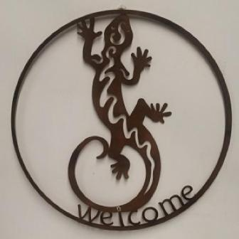Gecko Round Wall Art
