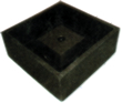 Square Pond Base / Stand 500 Black